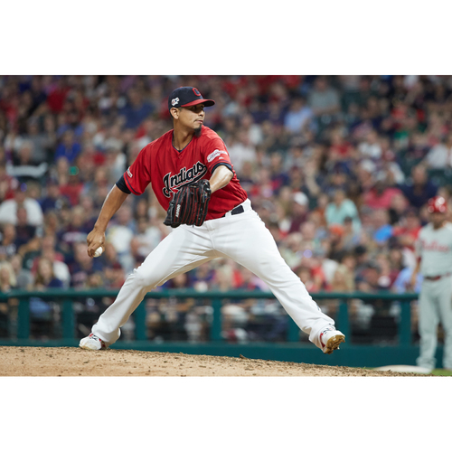 Photo of PRESALE - Carlos Carrasco Team-Issued or Game-Worn Jersey from 9/5/20 Game