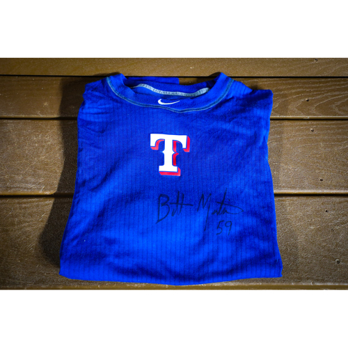 Photo of Brett Martin Autographed BP Shirt (Used)