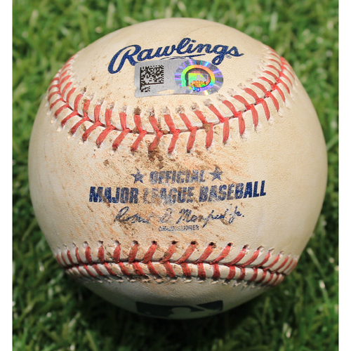Photo of Game-Used Baseball: Jurickson Profar Foul (OAK @ KC 8/28/19)