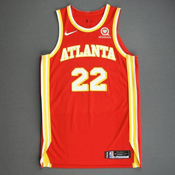 Image of Cam Reddish - Atlanta Hawks - Game-Worn Icon Edition Jersey - 2020-21 NBA Season