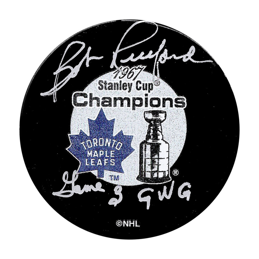 Bob Pulford Autographed 1967 Stanley Cup Champions Puck w/GAME 3 GWG