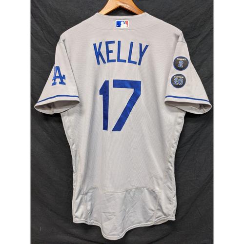 Photo of Joe Kelly Game-Used Jersey - Last Road Game of 2021 Regular Season - 9/26 at ARI