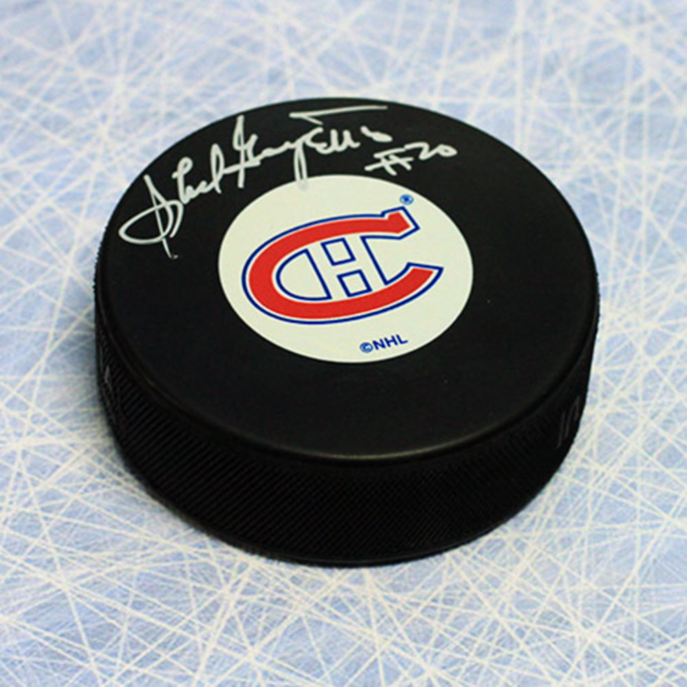 Phil Goyette Montreal Canadiens Autographed Hockey Puck