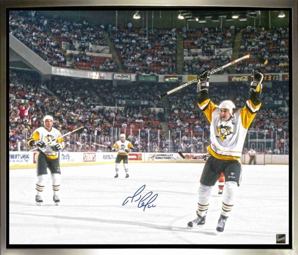 Mario Lemieux - Signed & Framed 20 x 24 Canvas - Pittsburgh Penguins Celebration