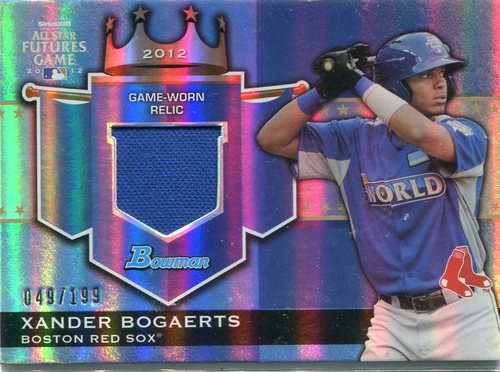 Photo of 2012 Bowman Draft Future's Game Relics Xander Bogaerts 049/199