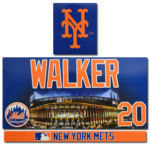 Neil Walker #20 - Game Used Locker Nameplate Set - 2017 Season