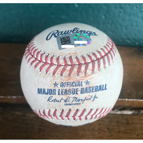 Photo of Cardinals Authentics: Game-Used Baseball Pitched by Jordan Hicks to Aaron Altherr *Single 2 RBI 100.9 MPH*