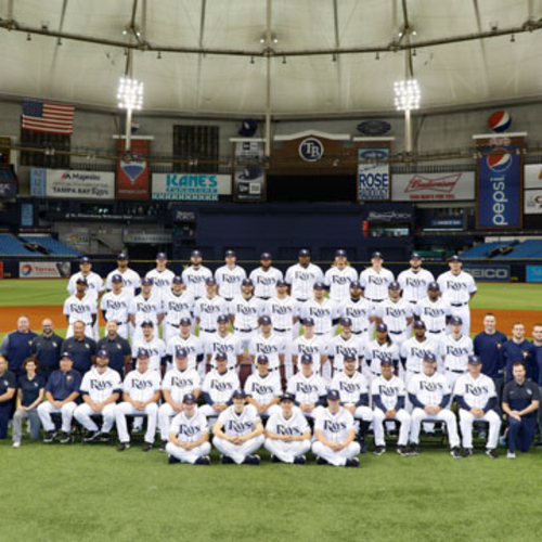 Photo of 2019 Tampa Bay Rays Team Photo at Tropicana Field