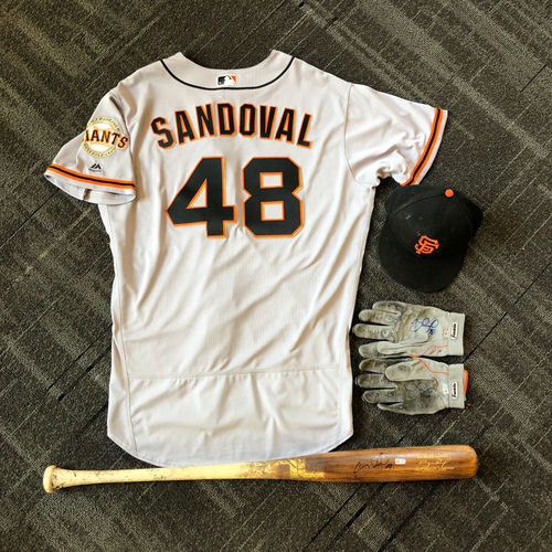 Photo of San Francisco Giants - Pablo Sandoval Game-Used Memorabilia Ultimate <i>From The Clubhouse</i> Collector's Pack