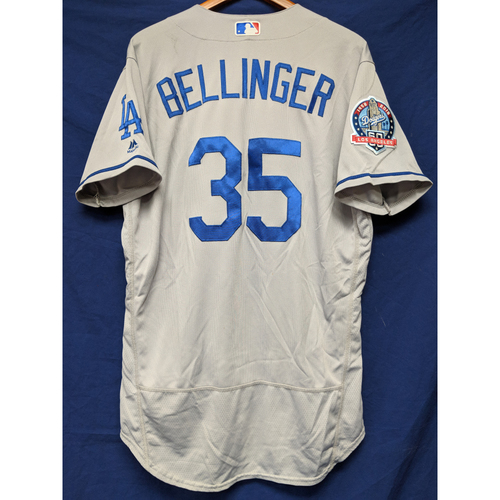 Photo of Kershaw's Challenge: Cody Bellinger Game-Used Road Home Run Jersey - 5/19/18