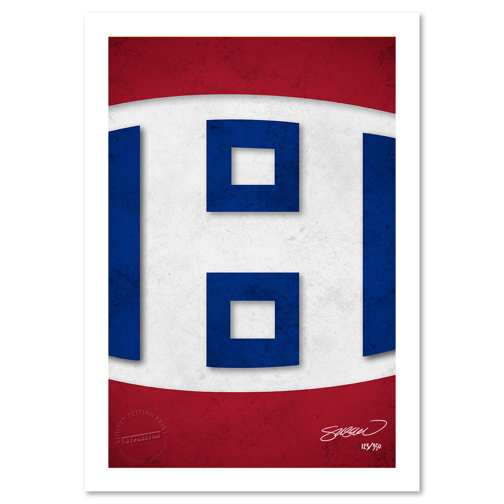 Montreal Canadiens Minimalist NHL Logo Limited Edition Art Print by S. Preston
