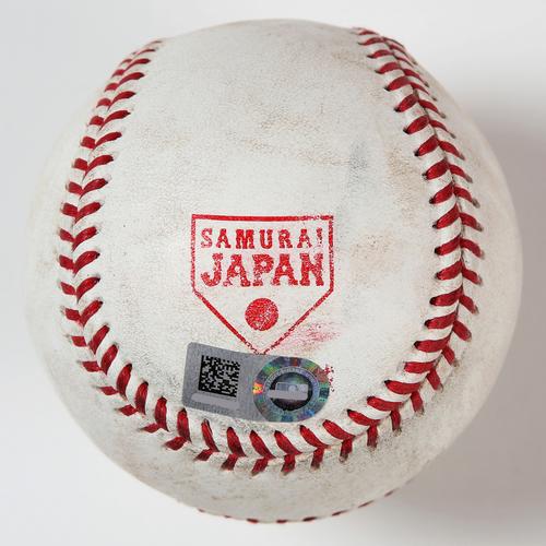 Photo of 2018 Japan Series Game-Used Baseball - Batter: Juan Soto, Pitcher: Nao Higashihama - RBI Single, Top 3rd