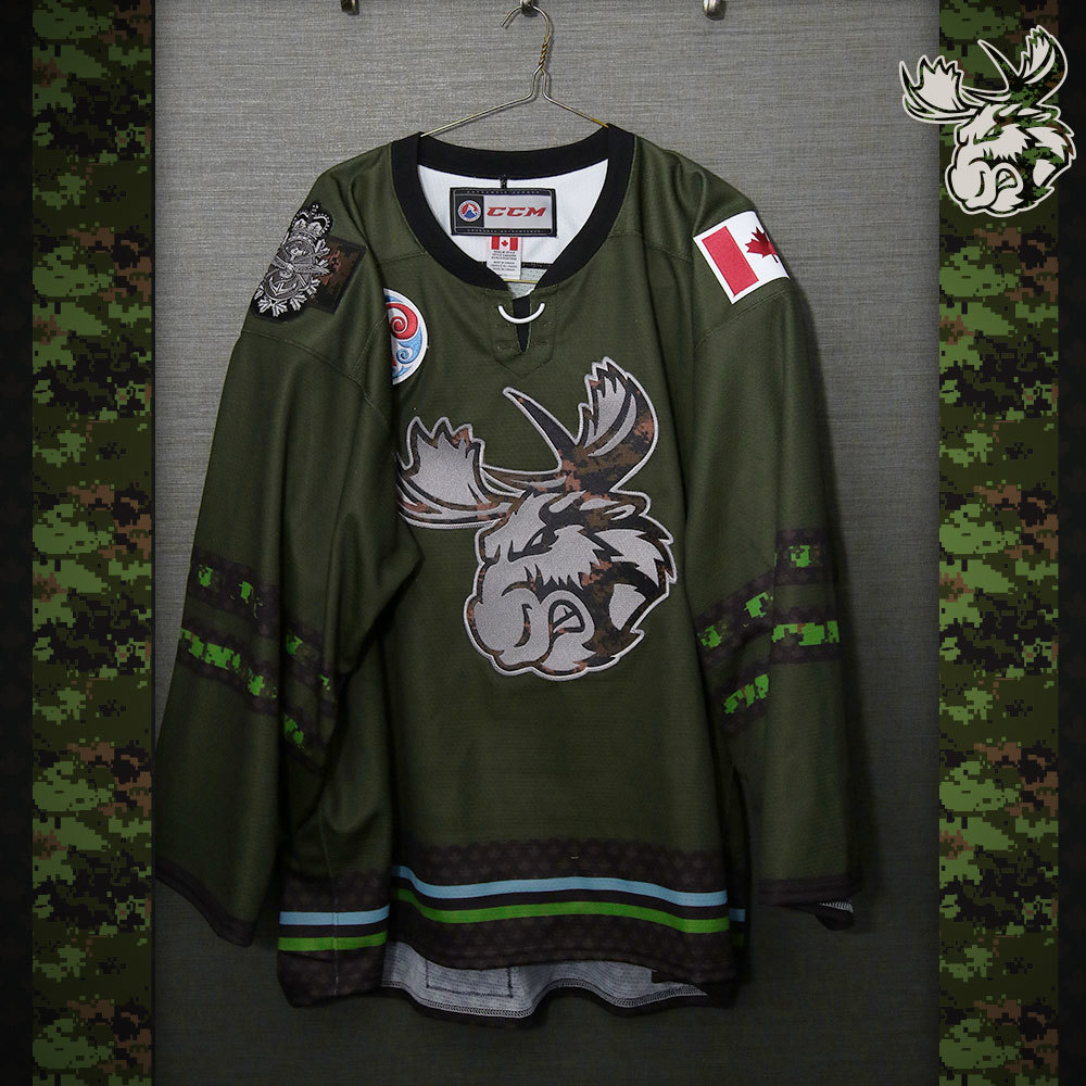 BLANK Game Issued Manitoba Moose Military Jersey