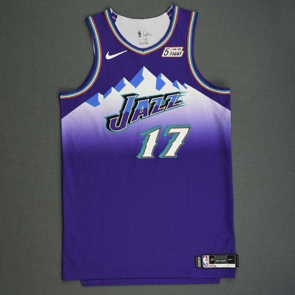 Image of Ed Davis - Utah Jazz - Game-Worn Classic Edition 1996-04 Road Jersey - 2019-20 Season