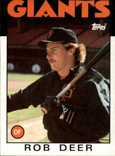 Photo of 1986 Topps #249 Rob Deer