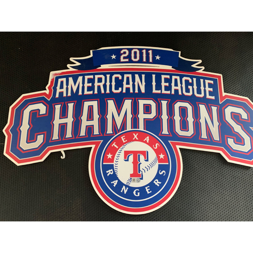 Photo of 2011 A.L. Champions Displayed in Tunnel Leading From Home Clubhouse to Home Dugout at Globe Life Park