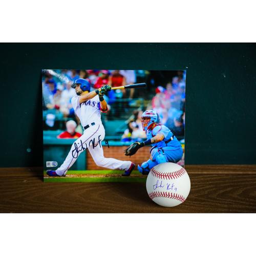 Photo of Isiah Kiner-Falefa Autographed Baseball and 8x10 photo