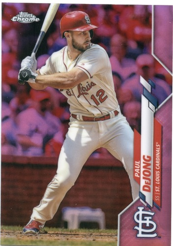Photo of 2020 Topps Chrome Pink Refractors #178 Paul DeJong