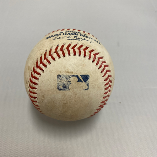 Photo of 2020 Silver Slugger #7 Donovan Solano 2020 Game Used Baseball used on 8/27 Game 1 vs. LAD - B-2: Double to RF off of Clayton Kershaw