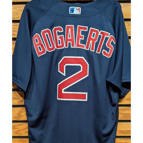 Xander Bogaerts #2 Game Used Navy Road Alternate Jersey