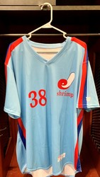 Photo of Jacksonville Expos Fauxback Jersey #38 Size 50