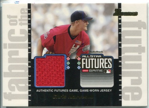 Photo of 2003 Bowman Draft Fabric of the Future Jersey Relics #CN Chris Narveson C