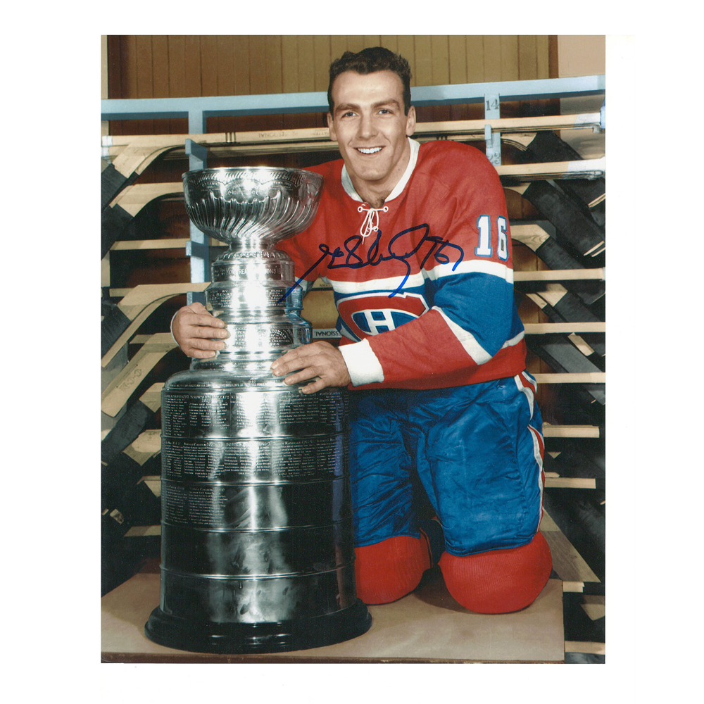 HENRI RICHARD Signed Montreal Canadiens Cup 8 X 10 Photo - 70056