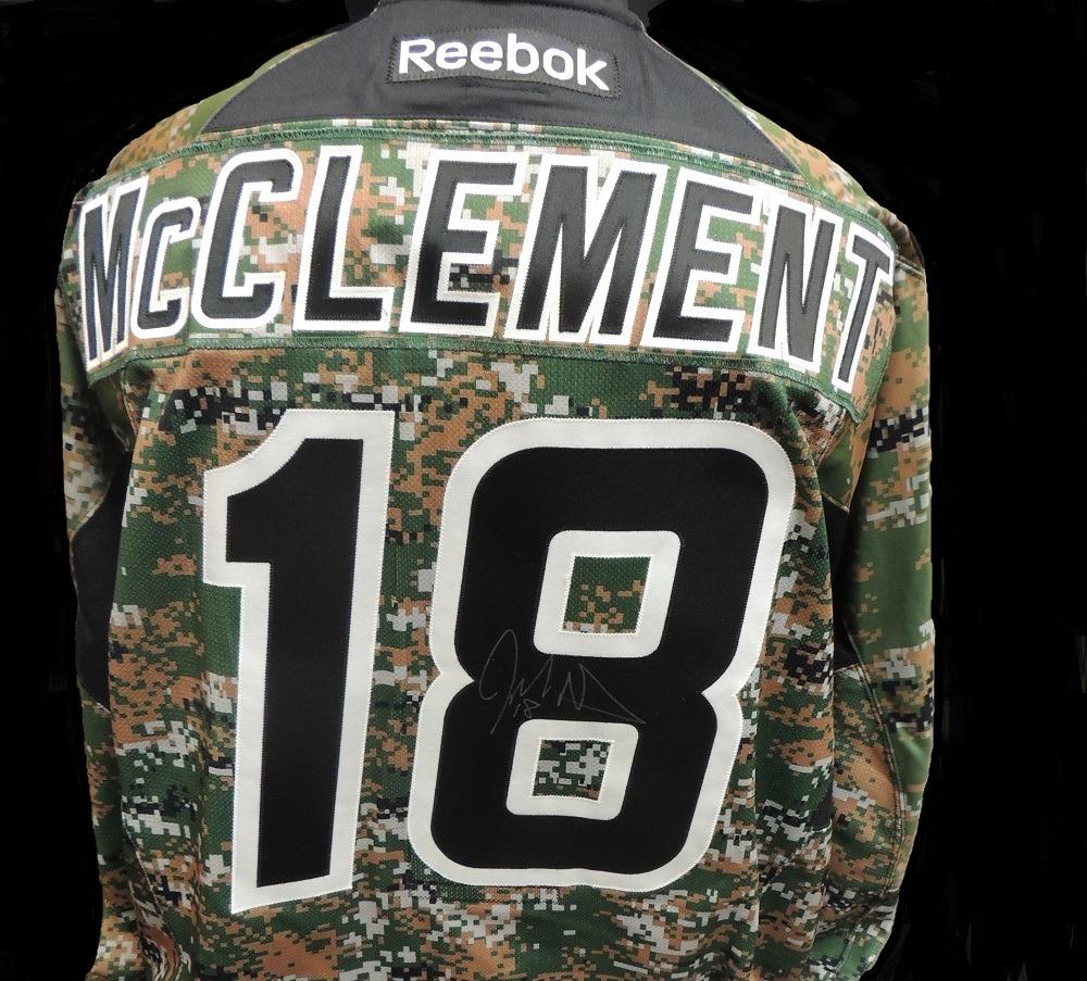 Carolina Hurricanes Jay McClement #18 Military Appreciation Jersey