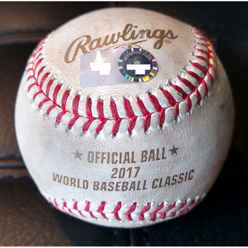 2017 World Baseball Classic: (VEN vs. PUR) Round 1 - Batter: Eddie Rosario vs. Pitcher: Felix Hernandez (Bot 3rd, Triple to right fielder Carlos Gonzalez)