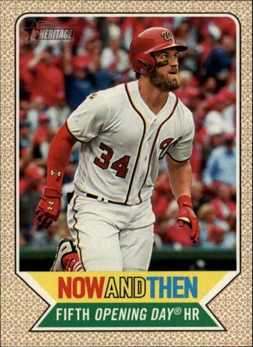 Photo of 2017 Topps Heritage Now and Then #NT2 Bryce Harper