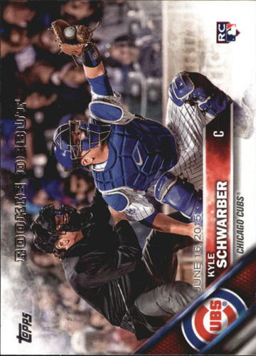 Photo of 2016 Topps Update #US138 Kyle Schwarber Cubs post-season