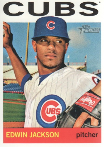 Photo of 2013 Topps Heritage #127 Edwin Jackson