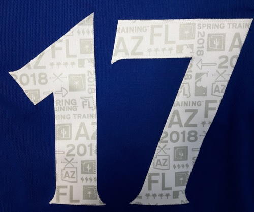 Photo of Authenticated Team Issued Spring Training 2018 Jersey - #17 Brook Jacoby. Size 46