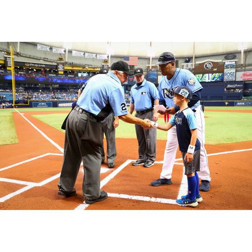 Photo of 2018 Tampa Bay Rays Lineup Card Delivery at Tropicana Field