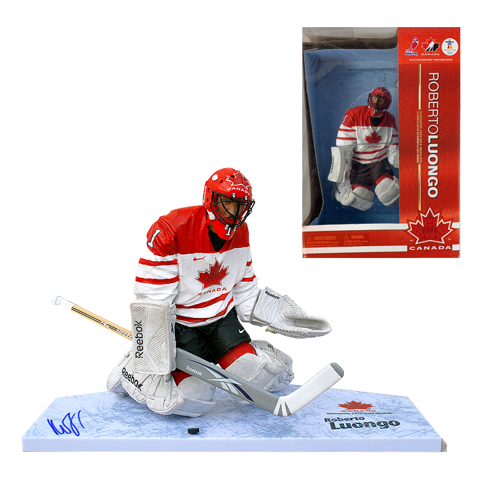 Roberto Luongo Signed Team Canada Mcfarlane Nhl Auctions
