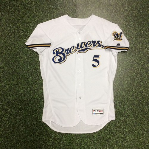 Photo of Jonathan Villar 04/02/18 Game-Used Home Opener Jersey