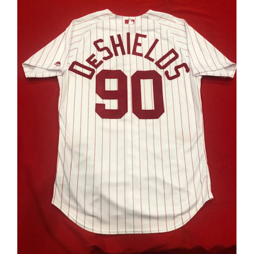 Delino DeShields -- 1967 Throwback Jersey & Pants -- Game-Used for Rockies vs. Reds on July 28, 2019 -- Jersey Size: 46 / Pants Size: 37-44-20