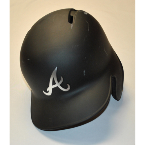 "Photo of Charlie ""A.C.E.S."" Culberson Atlanta Braves Game-Used 2019 Players' Weekend Helmet"
