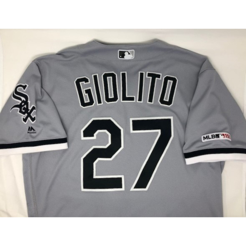 Lucas Giolito 2019 Team Issued Grey Road Jersey