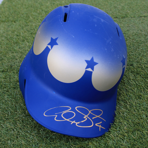 Photo of Team-Issued and Autographed Helmet: Alex Gordon (Size 7 3/8)