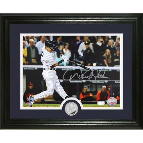 "Photo of Derek Jeter Autographed ""Final Season"" Silver Coin Photo Mint"