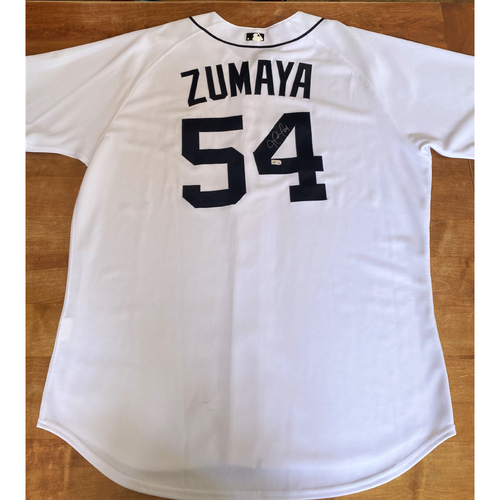 Photo of Joel Zumaya Autographed Detroit Tigers #54 Home Jersey (MLB AUTHENTICATED)