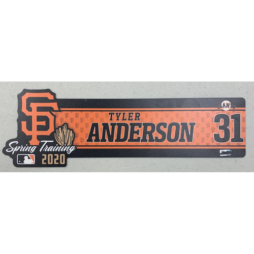 Photo of 2020 Spring Training Locker Tag - #31 Tyler Anderson