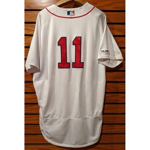 Photo of Rafael Devers Game Used Home White Jersey