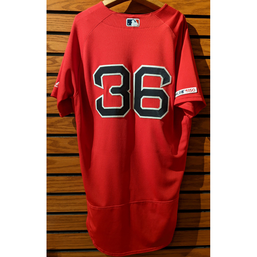 Chris Owings #36 Game Used Red Home Alternate Jersey