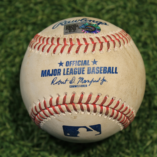Photo of Game-Used Baseball: Tucker Barnhart 462nd Career Hit (CIN @ KC Game 1 8/19/20)