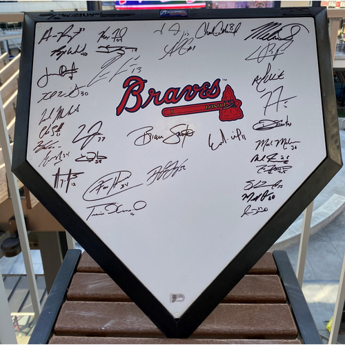 Photo of 2020 Team Signed Atlanta Braves Home Plate