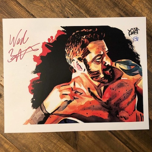 Photo of Wade Barrett SIGNED 11 x 14 Rob Schamberger Print