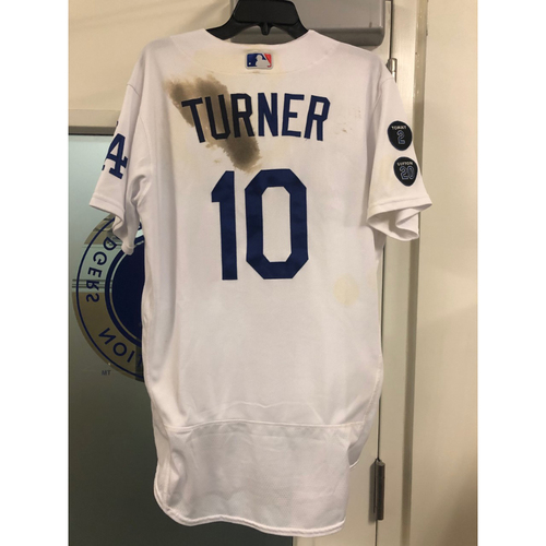 Photo of Justin Turner Authentic Game Used Jersey vs Astros - Size 42