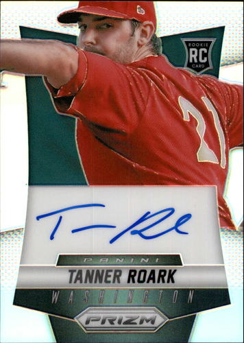 Photo of 2014 Panini Prizm Rookie Autographs Prizms #TR Tanner Roark